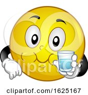 Smiley Mascot Salt Gargle Illustration