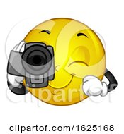 Mascot Smiley Video Camera Illustration