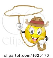 Poster, Art Print Of Smiley Cowboy Rope Illustration