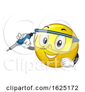Smiley Hold Soldering Iron Illustration