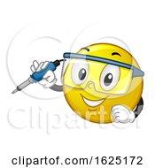 Smiley Hold Soldering Iron Illustration