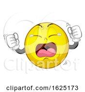 Poster, Art Print Of Smiley Mascot Tantrum Illustration