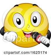 Poster, Art Print Of Smiley Reporter Microphone Wireless Report