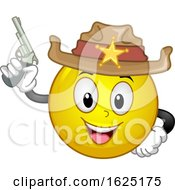 Smiley Sheriff Gun Illustration