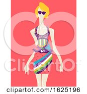 Girl Fashion Mannequin Fauvism Art Illustration