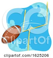 American Football Goal Illustration
