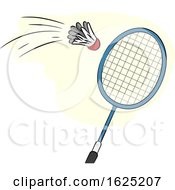 Badminton Racket Hit Illustration
