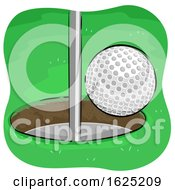 Golf Ball Goal Illustration
