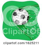 Poster, Art Print Of Soccer Ball Goal Illustration