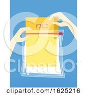 Hand Hurricane Preparedness File Protection