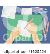 Hands Parchment Craft Illustration
