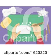 Poster, Art Print Of Hand Soap Carving Illustration