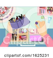 Poster, Art Print Of Make Up Beauty Products Organize Drawer