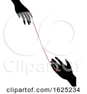 Hands Red String Fate Illustration