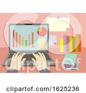 Hands Laptop Accounting Illustration