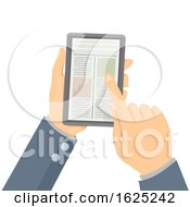 Hands Phone Articles Illustration
