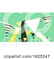 Poster, Art Print Of Hands Bunting Design Illustration