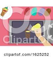 Hand Pancake Art Illustration