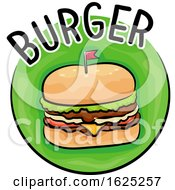 Poster, Art Print Of Icon Burger Illustration