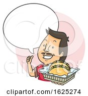Man Taco Speech Bubble Illustration