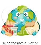 Mascot Big Earth Fast Foods Illustration