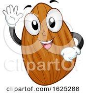 Mascot Almond Nut Illustration