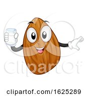 Mascot Almond Nut Milk Illustration