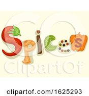 Poster, Art Print Of Spices Lettering Illustration