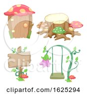Poster, Art Print Of Garden Design Elements Illustration