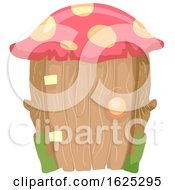 Fairy Garden Mushroom Roofed Door by BNP Design Studio