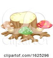 Fairy Garden Tree Stump With Mushrooms