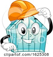 Mascot Green House Hard Hat Illustration