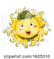 Sun Mascot Scout Illustration