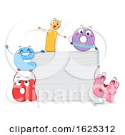 Mascot Vowels Paper Board Illustration