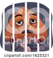 Mascot Psychedelic Mushroom Behind Bars