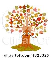 Poster, Art Print Of Mascot Maple Tree Illustration