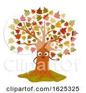 Mascot Maple Tree Illustration