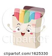 Mascot Colored Chalk Box Illustration
