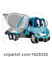 Mascot Cement Mixer Truck Illustration
