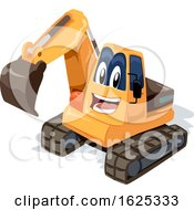 Poster, Art Print Of Mascot Excavator Illustration