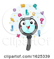 Poster, Art Print Of Mascot Magnifying Glass Find Words Letters