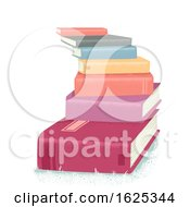Books Stairs Pile Illustration