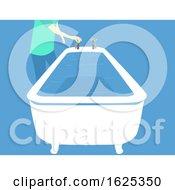Hurricane Preparedness Fill Bathtub Illustration