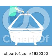Hurricane Preparedness Fill Bathtub Illustration