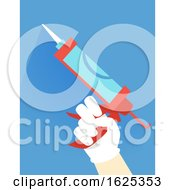 Hurricane Preparedness Silicone Gun Illustration