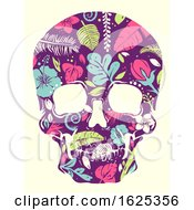 Tropical Skull Illustration