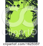 Halloween Tropical Background Illustration