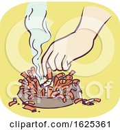 Hand Symptom Chain Smoking Illustration