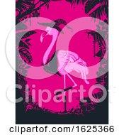 Poster, Art Print Of Halloween Flamingo Witch Illustration