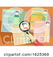 Hand Magnifying Glass Resume Human Resources